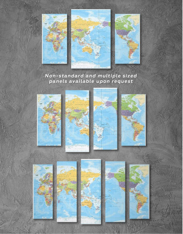 Detailed World Map Canvas Wall Art - image 1