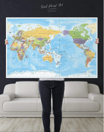 Detailed World Map Canvas Wall Art - image 5