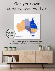 Australia Map Canvas Wall Art - Image 1