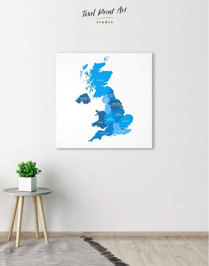 Map of Great Britain Canvas Wall Art - Image 4