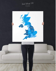 Map of Great Britain Canvas Wall Art - Image 3