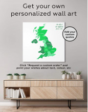 Map of Great Britain Canvas Wall Art - Image 1