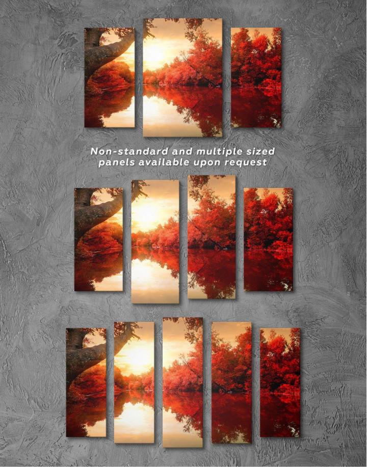 Autumn Landscape Canvas Wall Art - Image 2