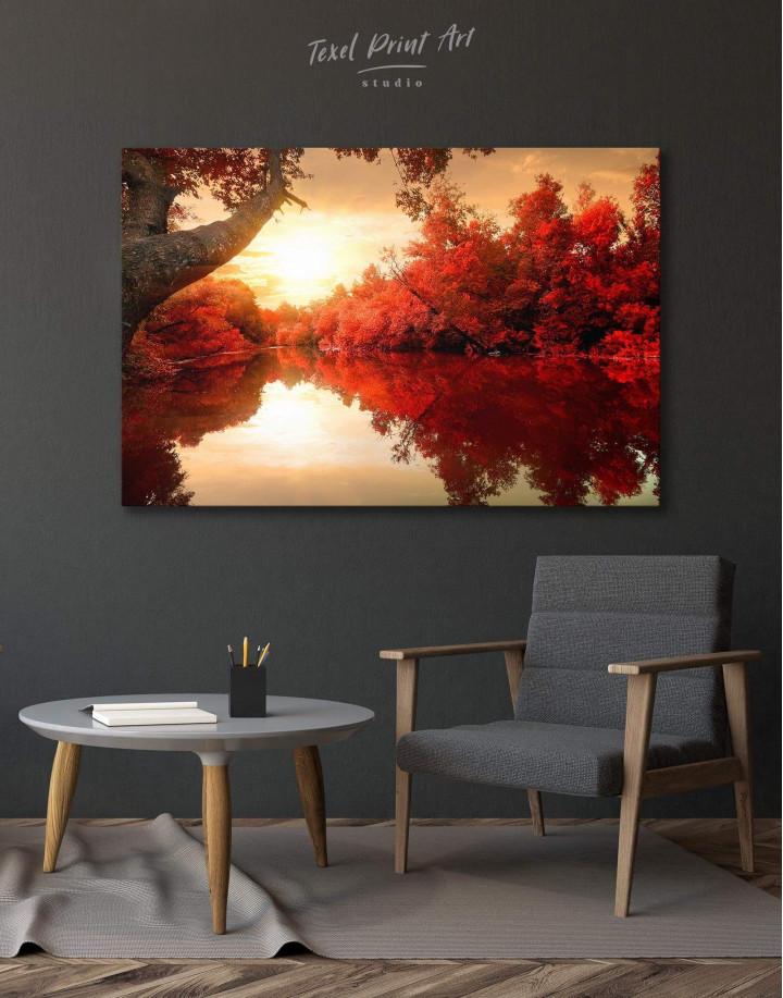 Autumn Landscape Canvas Wall Art - Image 0