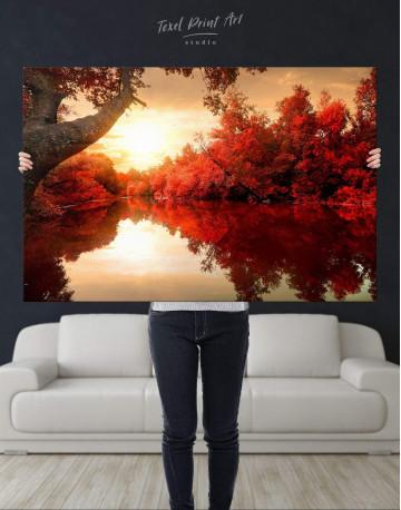 Autumn Landscape Canvas Wall Art - image 4