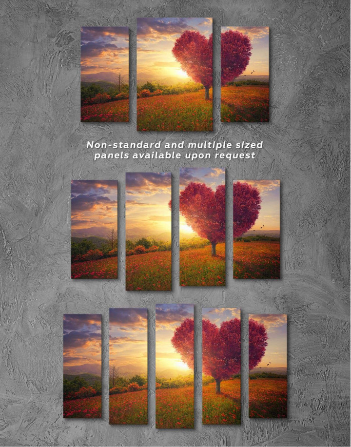 Romantic Landscape Canvas Wall Art - Image 4