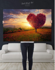 Romantic Landscape Canvas Wall Art - Image 2