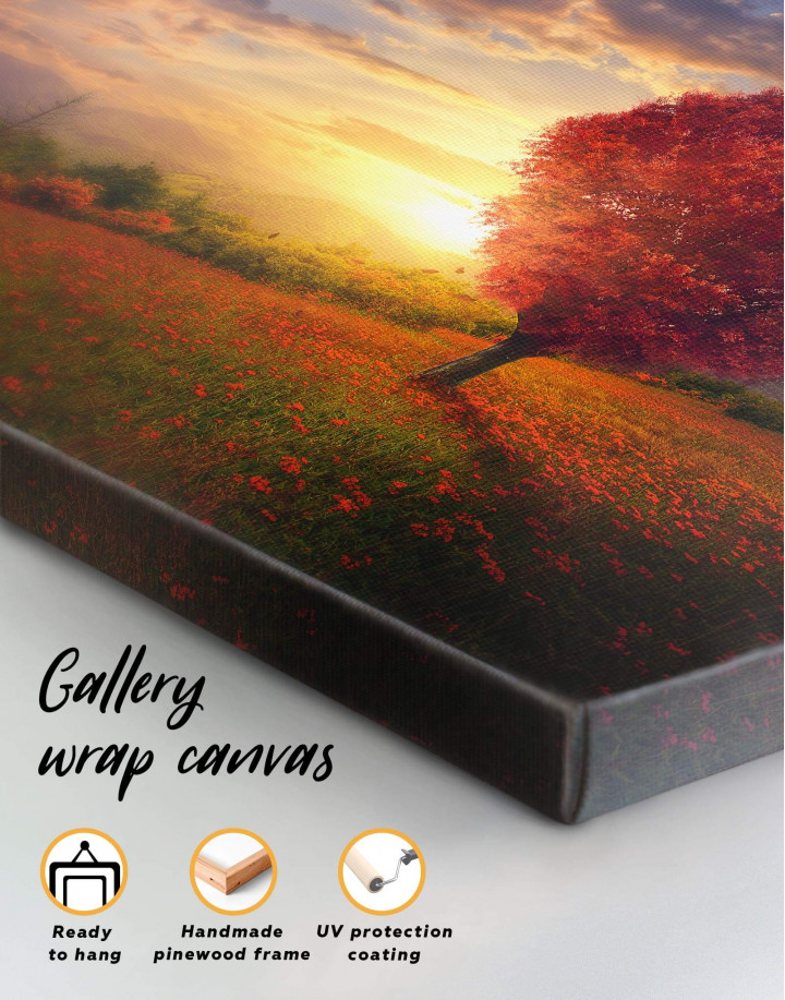 Romantic Landscape Canvas Wall Art - Image 1