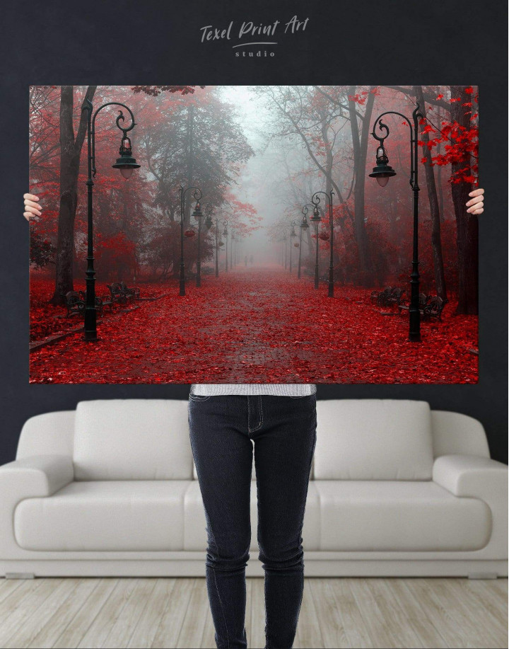 Autumn Forest Canvas Wall Art - Image 4