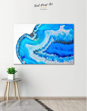 Deep Blue Geode Canvas Wall Art
