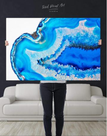 Deep Blue Geode Canvas Wall Art - image 4