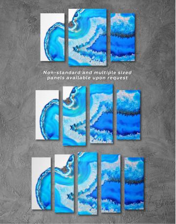 Deep Blue Geode Canvas Wall Art - image 2