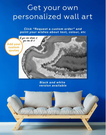 Deep Blue Geode Canvas Wall Art - image 1