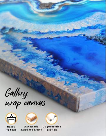 Deep Blue Geode Canvas Wall Art - image 5