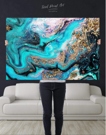 Marble Geode Canvas Wall Art - image 1