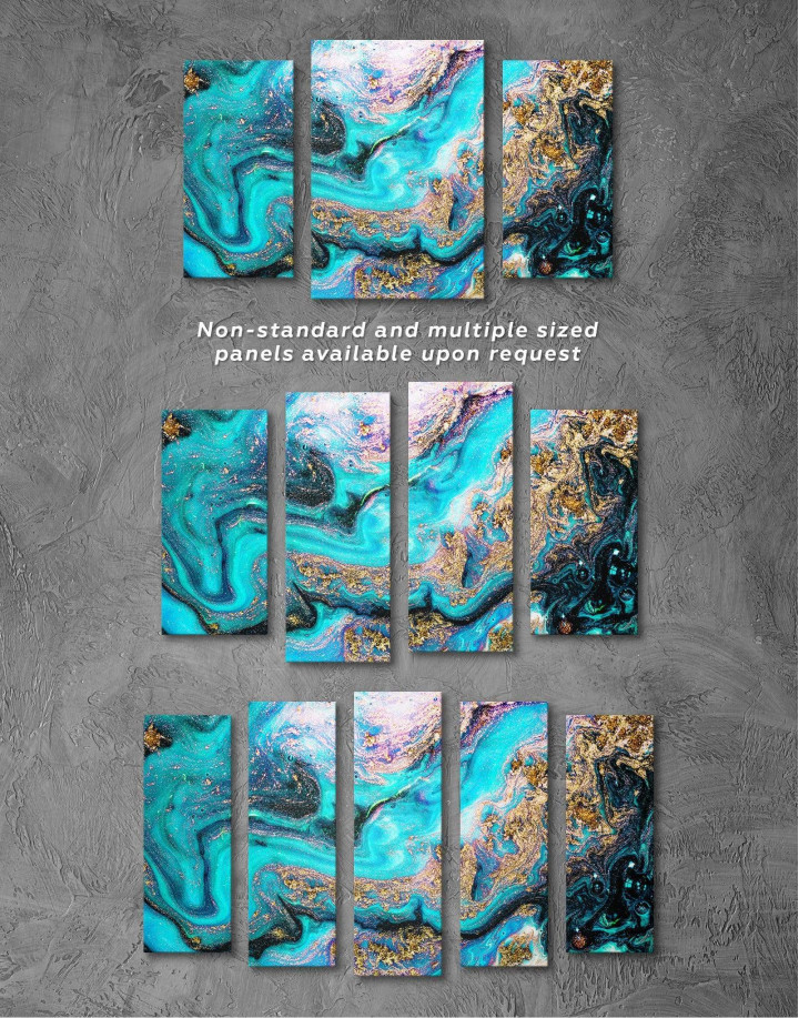 Marble Geode Canvas Wall Art - Image 2