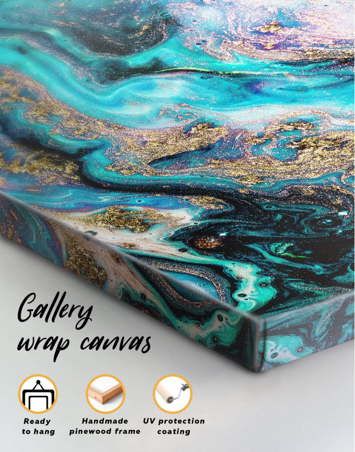 Marble Geode Canvas Wall Art - Image 4