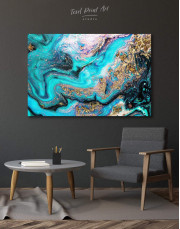 Marble Geode Canvas Wall Art - Image 0