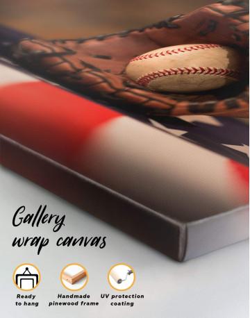 Baseball With American Flag Canvas Wall Art - image 5