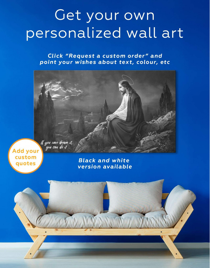 Jesus Christian Canvas Wall Art - Image 5