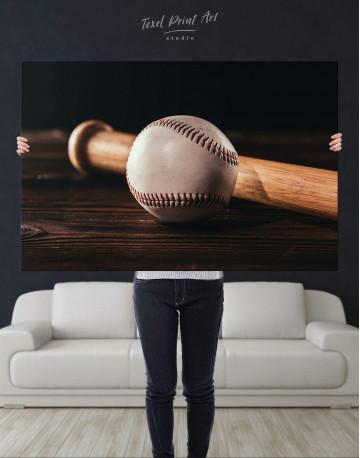 Ball and Bat Baseball Canvas Wall Art - image 4