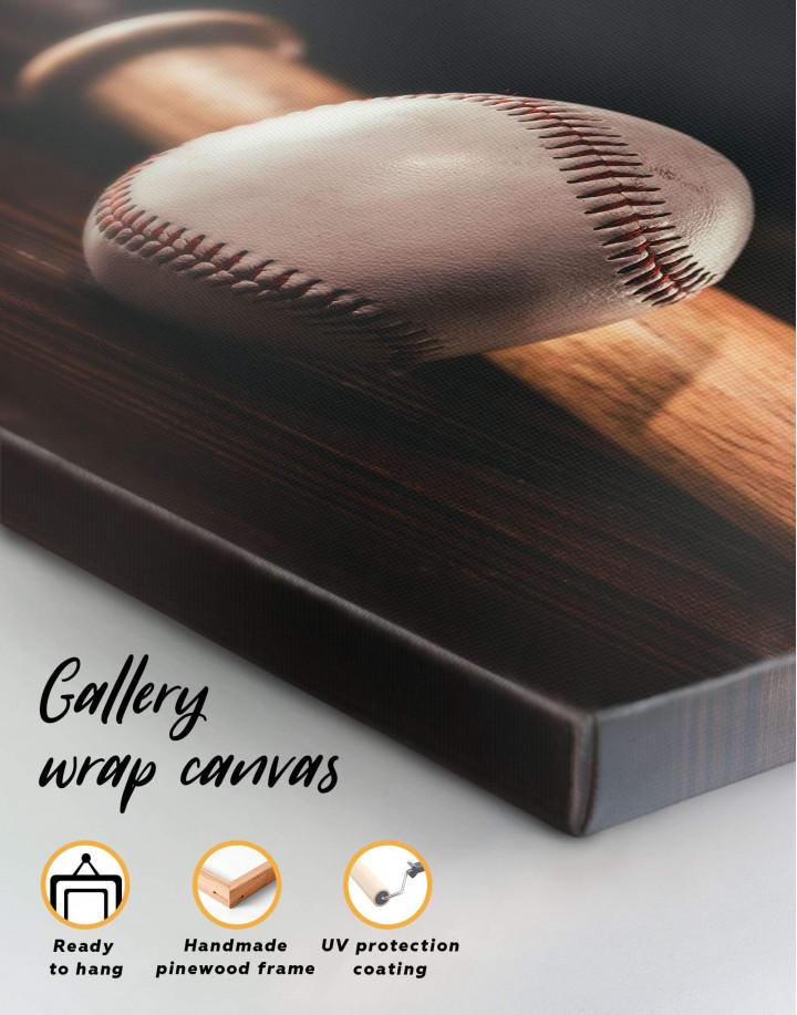 Ball and Bat Baseball Canvas Wall Art - Image 5