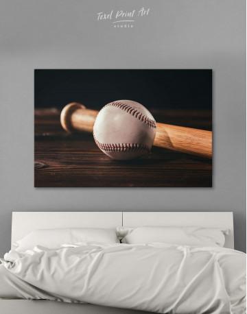 Ball and Bat Baseball Canvas Wall Art