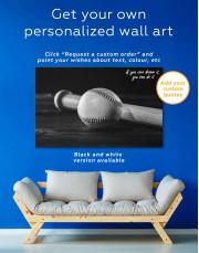 Ball and Bat Baseball Canvas Wall Art - Image 1