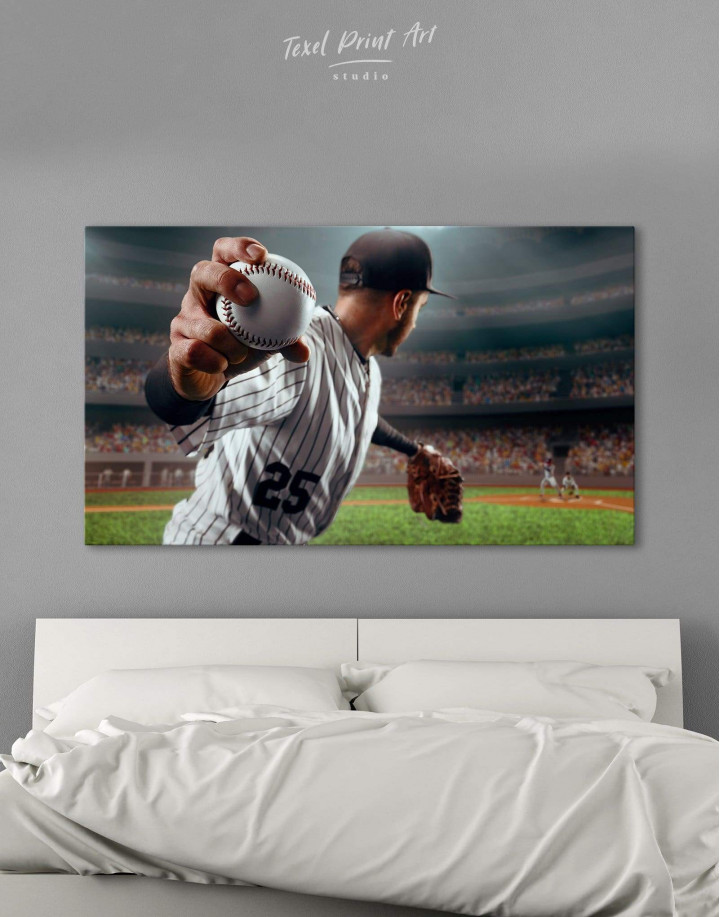 Baseball Pitcher Canvas Wall Art - Image 0