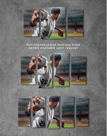Baseball Pitcher Canvas Wall Art - image 4