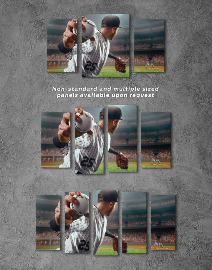 Baseball Pitcher Canvas Wall Art - Image 2