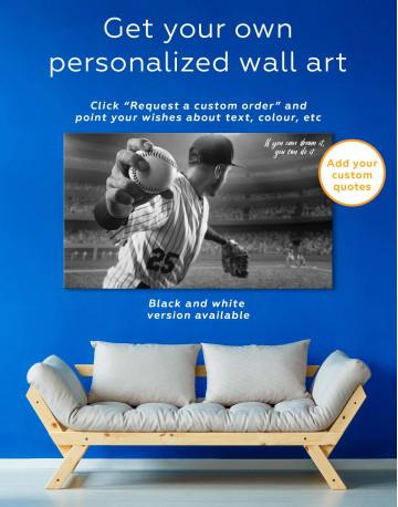 Baseball Pitcher Canvas Wall Art - image 5