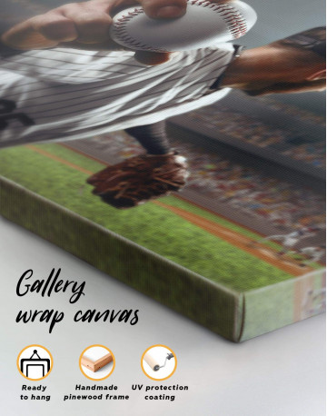 Baseball Pitcher Canvas Wall Art - image 1