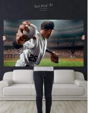 Baseball Pitcher Canvas Wall Art - Image 2