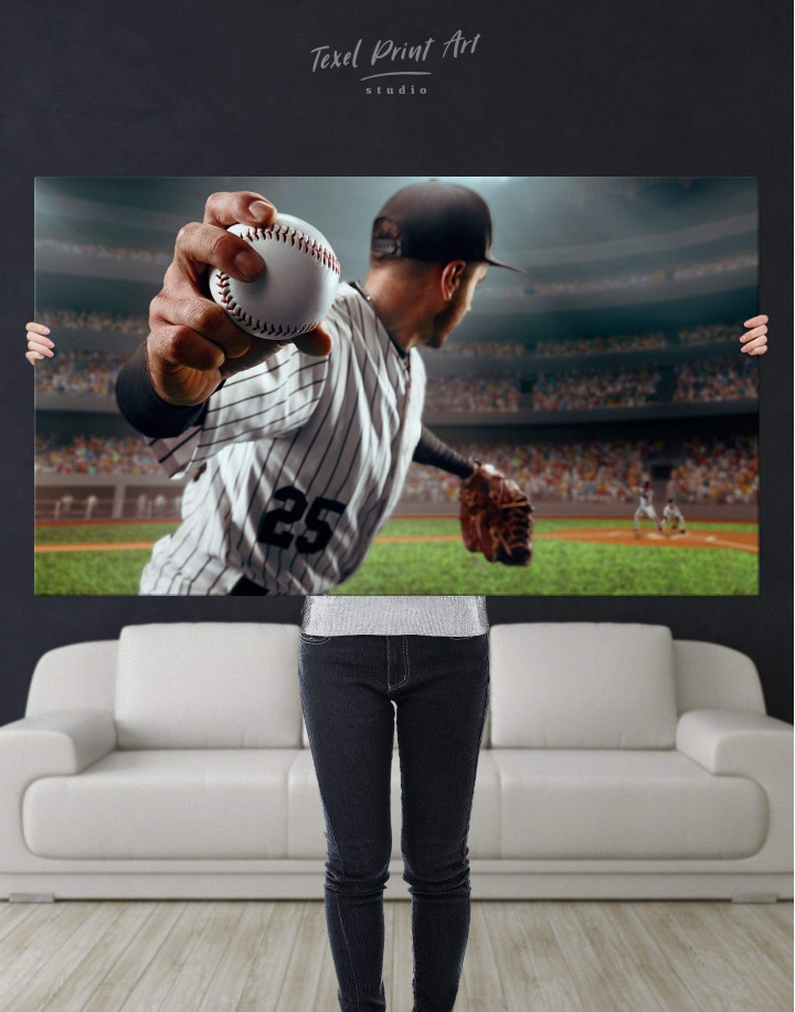 Baseball Pitcher Canvas Wall Art - Image 4