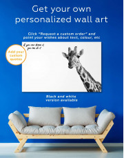 Funny Giraffe Canvas Wall Art - Image 5