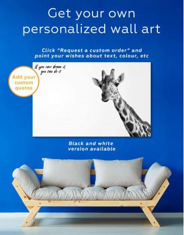 Funny Giraffe Canvas Wall Art - image 5