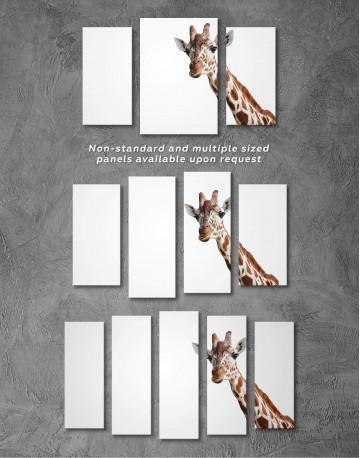 Funny Giraffe Canvas Wall Art - image 4