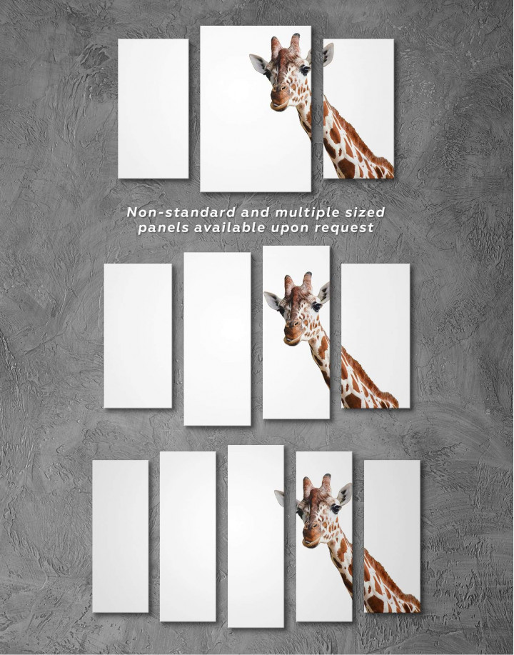 Funny Giraffe Canvas Wall Art - Image 4