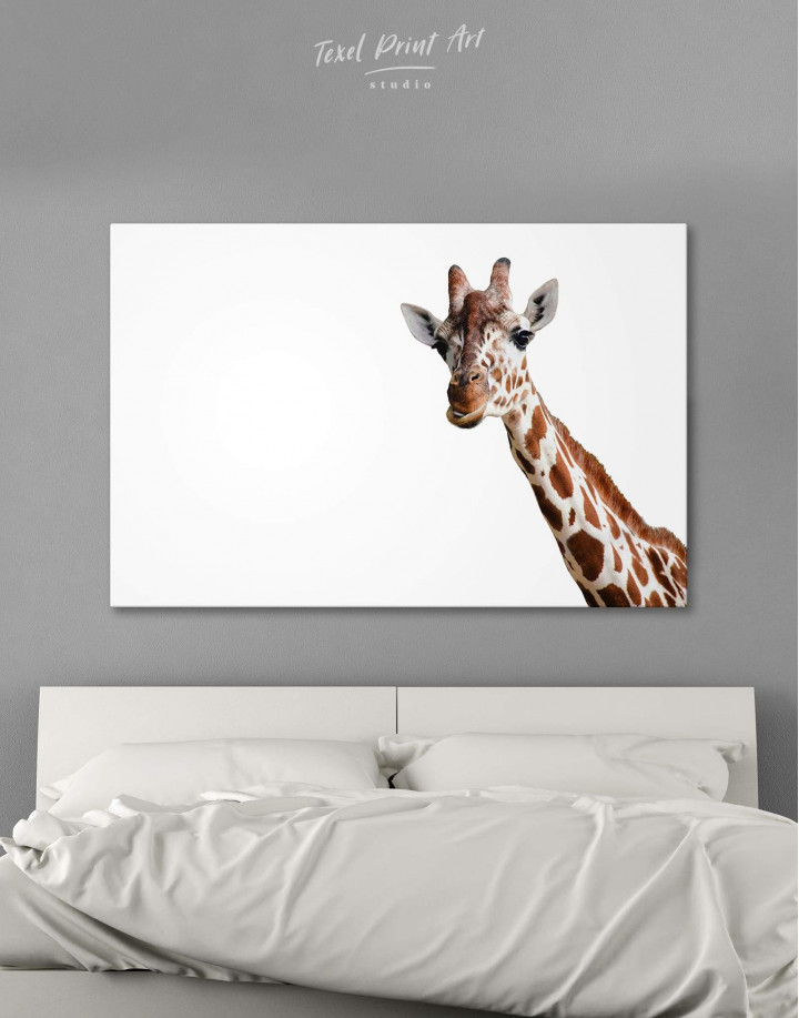 Funny Giraffe Canvas Wall Art - Image 0