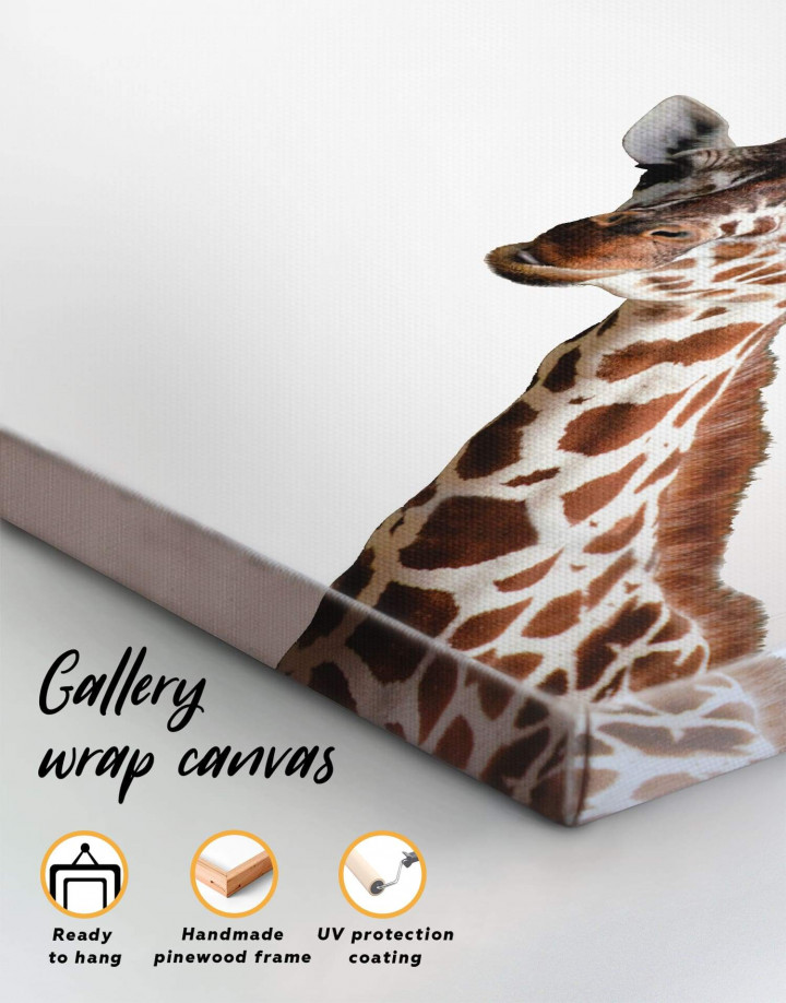 Funny Giraffe Canvas Wall Art - Image 1