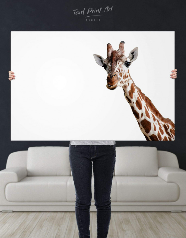 Funny Giraffe Canvas Wall Art - Image 2
