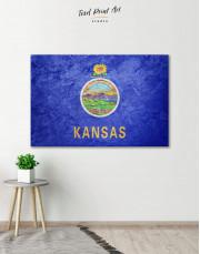 Kansas Flag Canvas Wall Art - Image 0
