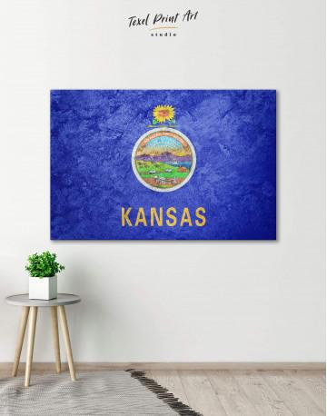 Kansas Flag Canvas Wall Art