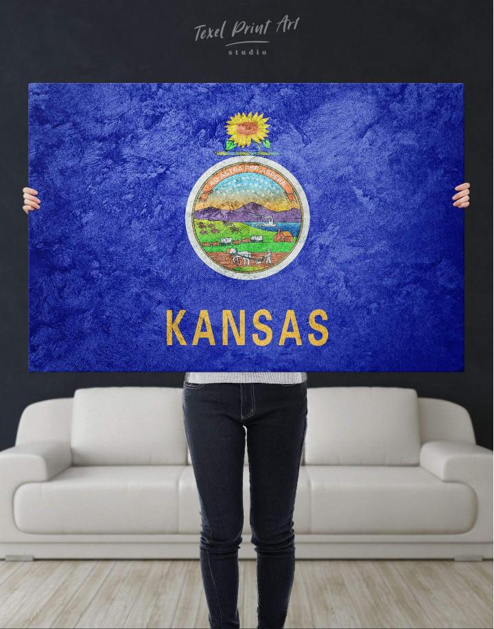 Kansas Flag Canvas Wall Art - Image 2