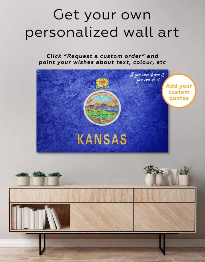 Kansas Flag Canvas Wall Art - Image 5