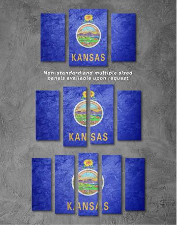 Kansas Flag Canvas Wall Art - image 4
