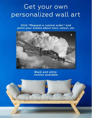 Military Aircraft Canvas Wall Art - image 1