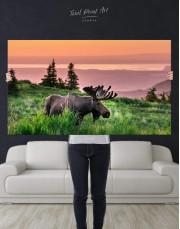 Wild Moose Canvas Wall Art - Image 4