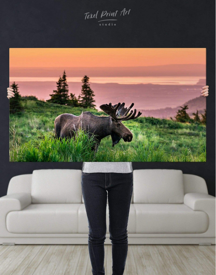 Wild Moose Canvas Wall Art - Image 4
